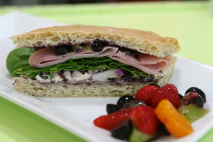 Ham Blueberry  on Foccacia at  PIE
